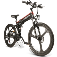 Buy cheap 26 Inch 21 Speed Mountain Electric Bike 10 Ah Lithium Battery from wholesalers