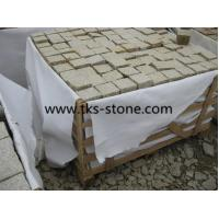 Wholesale G682,sunset gold,rusty yellow granite cobblestone,cube stone from china suppliers
