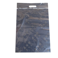 China 2mil thickness poly clear die cut  tote reclosable ziplock bags for merchandise packing on sale