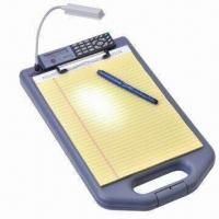 Wholesale LED Light Storage Clipboard, Easy to Carry, Equipped with Solar Calculator and Low Profile Clip from china suppliers