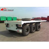 Wholesale Three - Axle 40FT 12 Tires Flatbed Semi Trailer , Flatbed Equipment Trailer from china suppliers