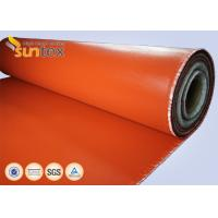 Buy cheap Red Fire Resistant Silicone Coated glass cloth fabric For Expansion Joint High from wholesalers