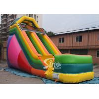 Wholesale 19' custom made colorful inflatable dry slide with lead free material from china suppliers