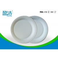 Wholesale Small Size Bulk Paper Plates , Plain White Paper Plates Without Printing from china suppliers