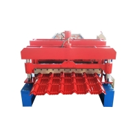 China Color Steel Plate PPGL 5m/Min Glazed Tile Forming Machine on sale