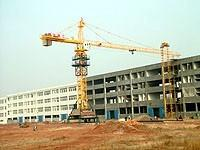 Wholesale 50m Boom 5015 stationary attached Tower Crane Luffing Crane with 50.2 Height Under Hook from china suppliers