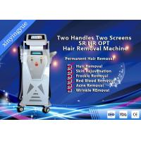 Wholesale Two Handles Two Screen 2000W Permanent Painless Hair Removal And Skin Rejuvenation SHR IPL Machine from china suppliers