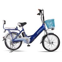 Wholesale 24'' Aluminum Rims Lithium Single Speed City Bike Blue Pedal Assist Electric Bike from china suppliers