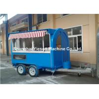 China Portable Carts Food Tuck Trailer , Fast Food Trailers for Ice Cream wholesale