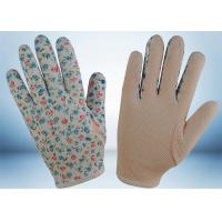 Wholesale Flower Printed Cotton Gardening Gloves Slip Proof Three Stitches Lines from china suppliers
