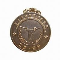 Wholesale Kung fu Champion Medal/Chinese Medal, Made of Brass, Customized Sizes and Shapes Welcomed from china suppliers