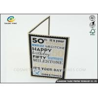 Wholesale Kraft Paper Personalised Christmas Cards Pantone Color Environmental Protection from china suppliers