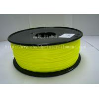 Yellow abs or pla filament ,  filament 3d printing plastic material 1.75 / 3mm