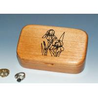 Wholesale Natural Wood Solid Timber Jewellery Box , Handmade Wooden Earring Jewelry Box from china suppliers