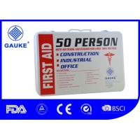 Wholesale Wall Mounted Warehouse First Aid Kit , 2 Layer Metal First Aid Box For Industrial Use from china suppliers