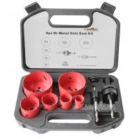 """Wholesale 9pc BI-METAL HOLE SAW ASSORTMENT SET 3/4 - 4-1/8"""" BLADES VARI TOOTH METAL from china suppliers"""