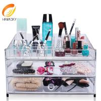 Buy cheap Makeup storage containers Clear makeup organizer with 3 drawers from wholesalers