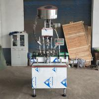 Wholesale Automatic Single Head Glass Bottle Aluminium Cap Screw Capping Machine from china suppliers