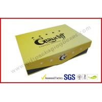 Wholesale Yellow Square Cigar Gift Box CMYK Printing Paper with Embossing Logo from china suppliers