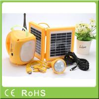 High capacity quality rechargeable LED solar lantern with bulbs for emergency