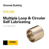 Wholesale Copper CuSn7Zn4Pb7 Multiple Loop & Circular Self Lubricating Grooves Bushing For Mining Loading from china suppliers