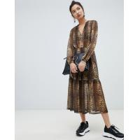 Wholesale factory clothing custom make fashion print maxi dress from china suppliers