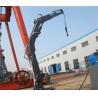 Buy cheap Customized Ship Marine Telescopic Boom Crane / Hydraulic Crane High Performance from wholesalers