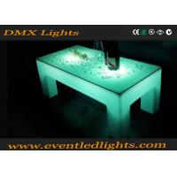 China Ourdoor indoor plastic Popular white color LED lighting portable bar table wholesale