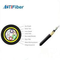 China Customized Length Fiber Optic Drop Cable , Fiber Optic Armored Cable Adss 24 Core on sale