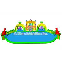 Mobile Huge Inflatable Water Park / Outdoor Inflatable Swimming Pool Slides
