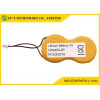 Wholesale 2Pcr2045 button cell 3v lithium battery battery pack 1200mah cr2450 with wires and connector from china suppliers