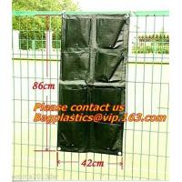 waterproof 10 pockets non-woven fabric wall hanging flower bag, Felt Material and Grow Bags Type Planter Wall Grow Bag