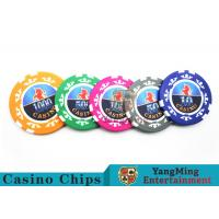 Quality High Precision Casino Poker Chip Set / Poker Table Set For Gambling Games for sale