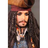 China Hollywood Silicone Celebrity Wax Figures Life Size Jack Sparrow Statue Wax Figures wholesale