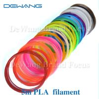 China Markerbot pla plastic 3d printing filament materials , polylactic acid filament wholesale