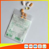 Wholesale Tablet Drug Packaging Ziplock Pill Bags , Medicine Plastic Bag With Zip Seal from china suppliers