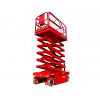 Wholesale Durable 14m 45ft Height Lift Electric Scissor Lift / Powered Scissor Lift from china suppliers