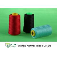 Wholesale Dyed 100 Spun Polyester Sewing Thread With Plastic / Paper Cone Wear Comfortable from china suppliers