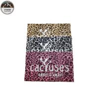 China Popular Leopard Custom Embossed Leather Patches Sew On Style 22*22CM Size For Hoodies on sale