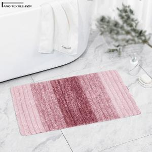 Wholesale Rectangle Gradient Microfiber Tufted 3D Striped Tufted Bath Mat from china suppliers