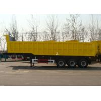 Wholesale 3 Axle 34cbm Hydraulic Dump Semi Trailer With High Strength Steel Frame Body from china suppliers