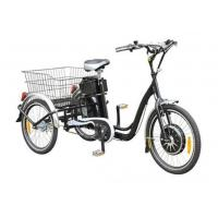 """Wholesale 22""""  Electric Adult Tricycles Black 3 Wheel Electric Trike With Rear Luggage Carrier from china suppliers"""