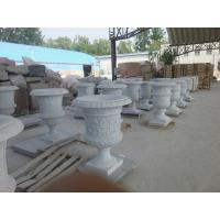 Wholesale White Marble Flowerpot for garden from china suppliers