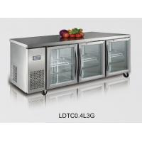 Wholesale Three Clear Door Pizza Counters With Ventilated Cooling , 440L from china suppliers