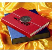 Wholesale 80g - 250g, Offset,  Coated Paper PU leather jacket embossing Hardcover Book Printing from china suppliers