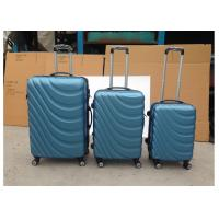Carry On 3 Pcs Luggage Travel Set Bag ABS Trolley Suitcase 2 Zippers Framed For Travel