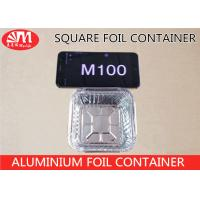 Wholesale M100 Aluminium Foil Container Square Shape Grill Pan 10cm X 10cm X 4cm Size 180ml Volume from china suppliers