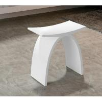 Wholesale White Artificial Stone Shower Bench Small Size Durable Eco Friendly from china suppliers