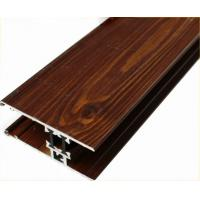 Wholesale Customized Furniture Aluminium Profiles , Wood Grain Finished T Slot Aluminum Framing from china suppliers