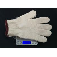 High Durability Hand Protection Gloves , White Cotton Inspection Gloves Breathable